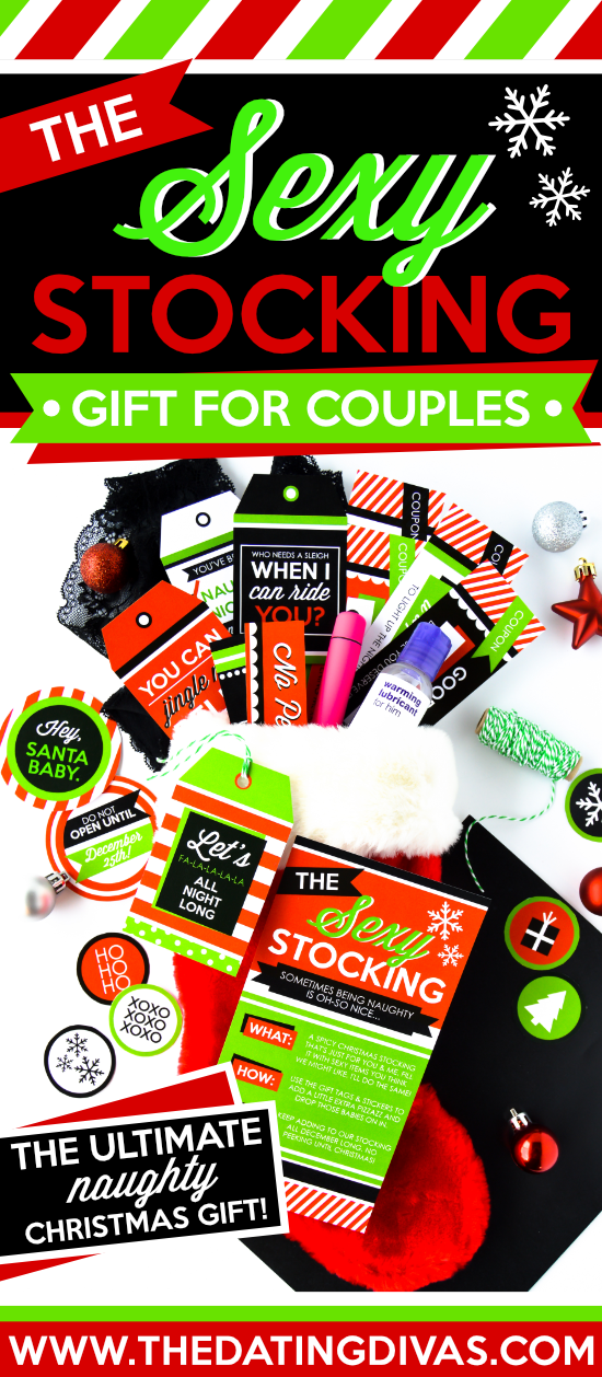 The BEST sexy stocking stuffers for husband and wife! Such a fun and EASY gift!!! #datingdivas #stockingstuffersforhusband #stockingstuffersforwife #beststockingstuffers