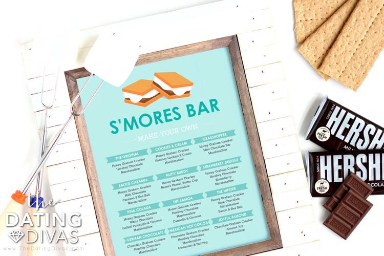 S'mores Menu Printable