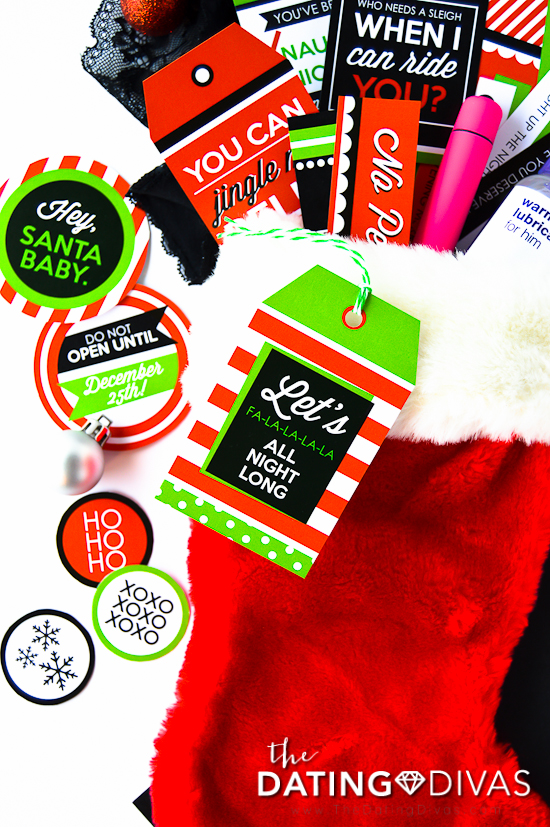 Stocking Stuffers for Husband and Wife Tag