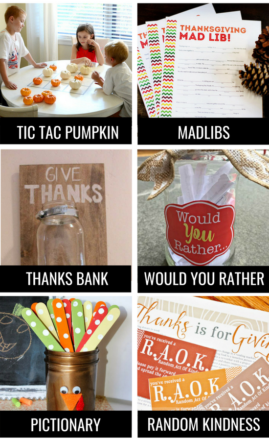 Thanksgiving Ideas for Family