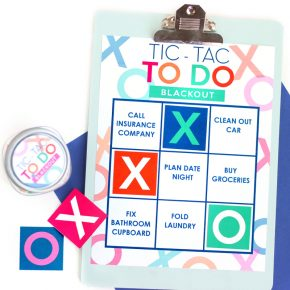 Tic Tac Toe Printable Board