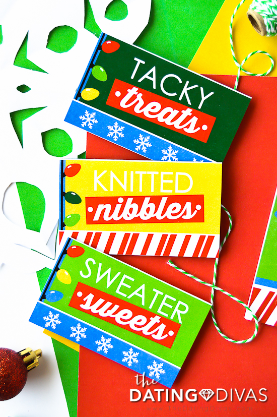 Ugly Sweater Party Treat Tags