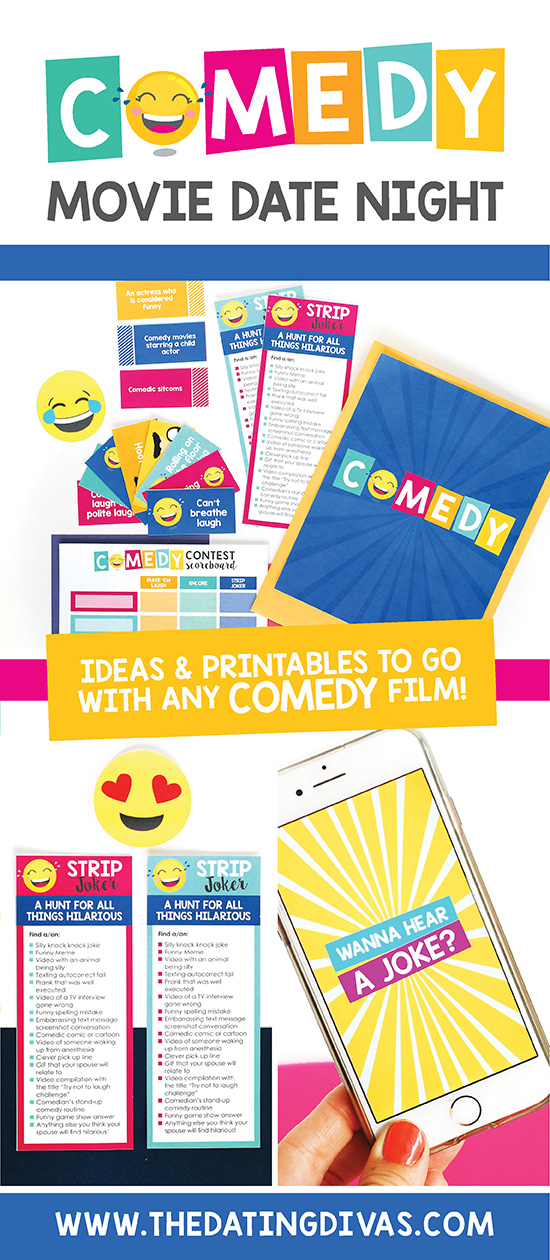 Pick from our list of the best comedy movies, pair it with our comedy movie printables & ta-da - you've got an easy at-home movie date to relax AND connect with your spouse. #bestcomedymovies #athomedateideas #yearofmoviesdates #comedymovies #datingdivas