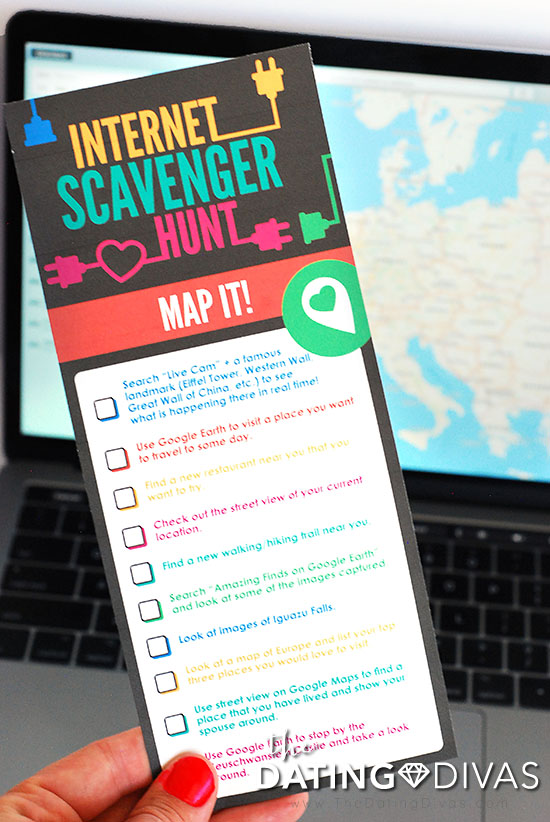Internet Scavenger Hunt Game For Date Night