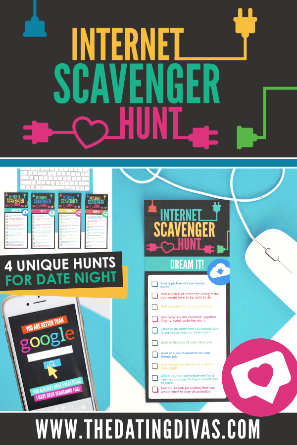 graphic about Printable Internet Scavenger Hunt named Website Scavenger Hunt - The Relationship Divas