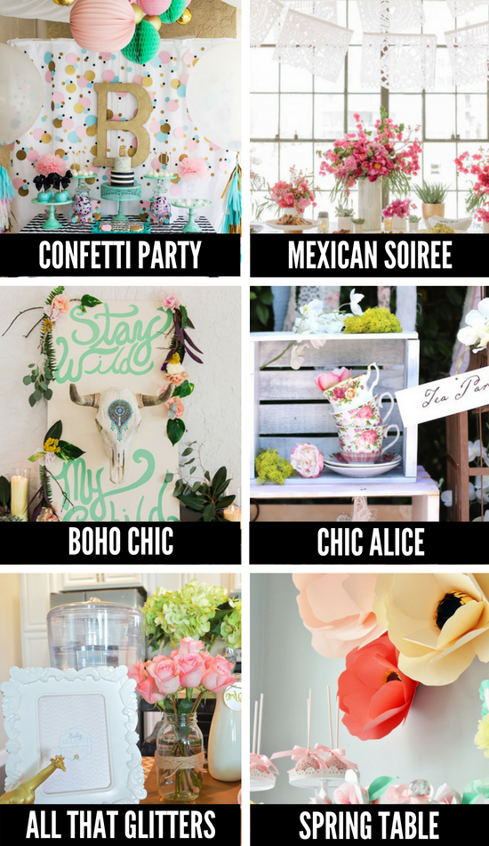 More Baby Shower Themes for Girls
