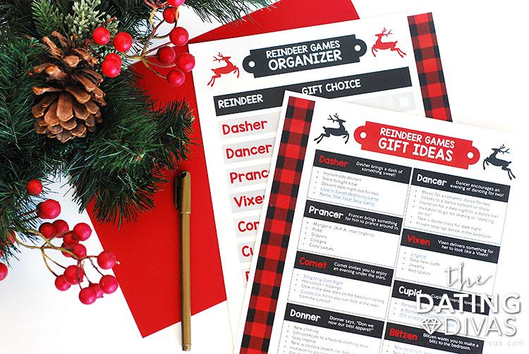 Reindeer Games Christmas Gift Organizer