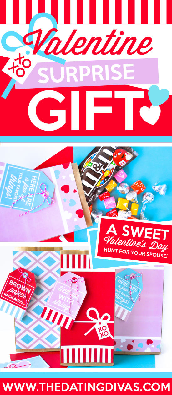 This Valentine surprise hunt and gift idea is AMAZING!! Free, easy and fun! #datingdivas #valentinesurprise #cutevalentinesdaygifts #valentinesdayideas