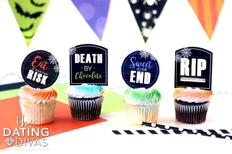 Halloween Costume Party Cupcake Toppers