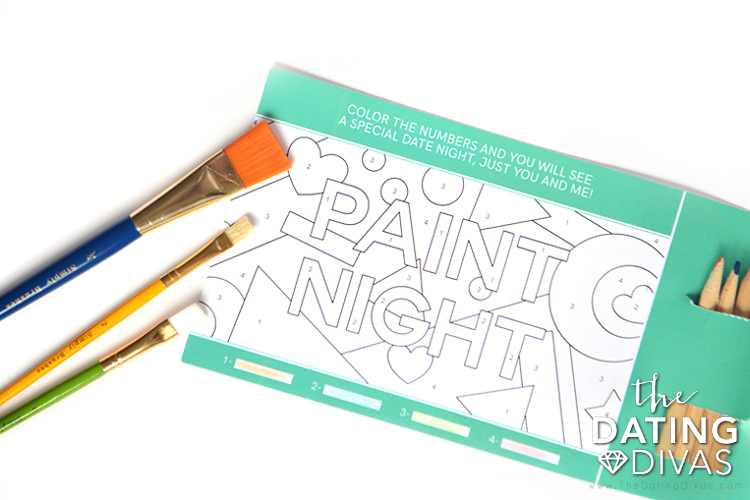Paint by Number Paint Night Invitation