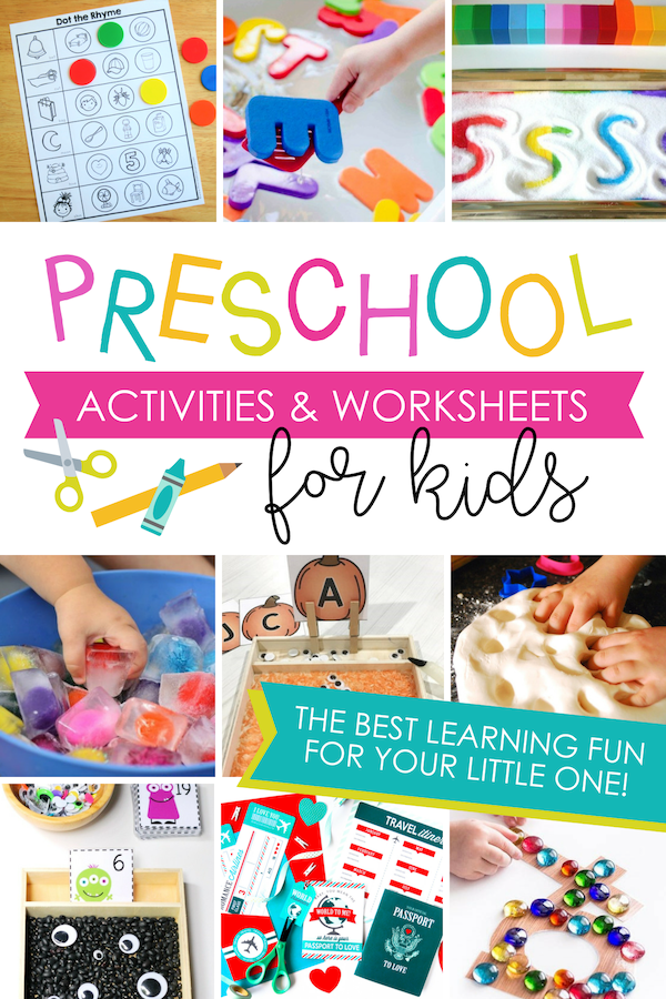 This is the BEST list of preschool activities I've ever seen! Totally doing this with my kiddos!! #datingdivas #preschoolactivities #worksheetsforkids