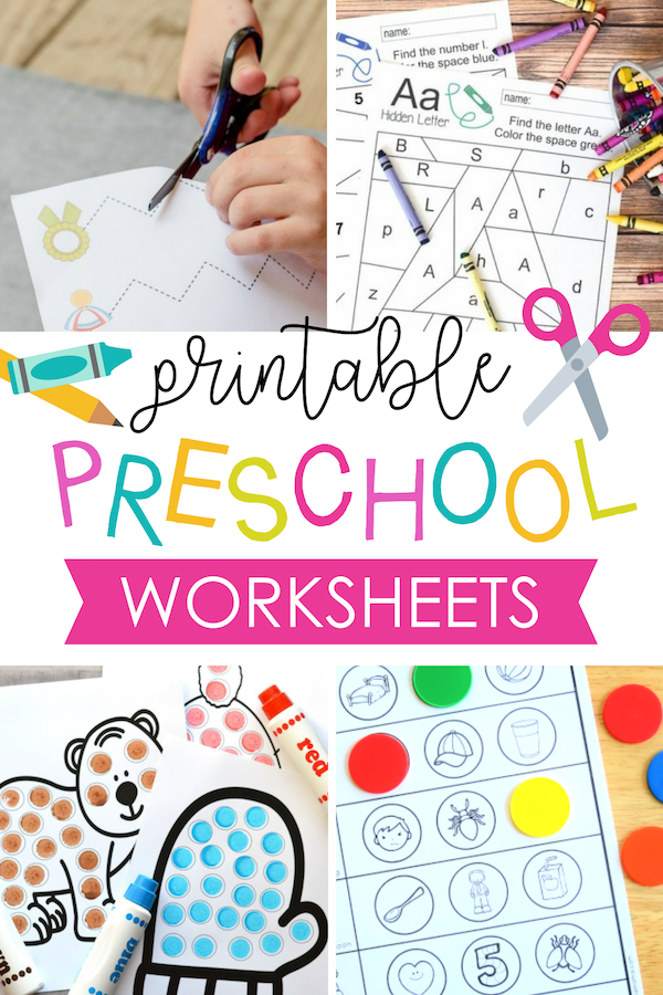 Printable Preschool Activities and Worksheets for Kids