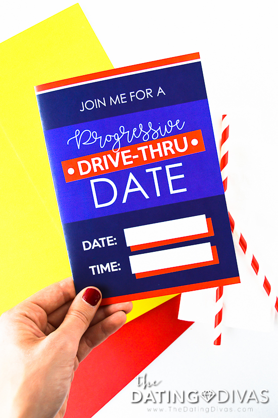 Progressive Drive Through Date Invite