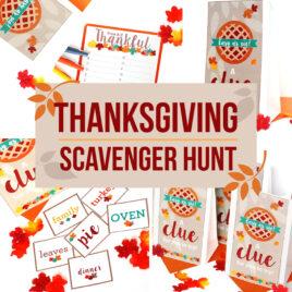 Scavenger Hunt Clues for Thanksgiving