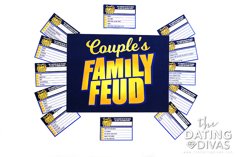 picture regarding Family Feud Printable referred to as Partners Spouse and children Feud Video game