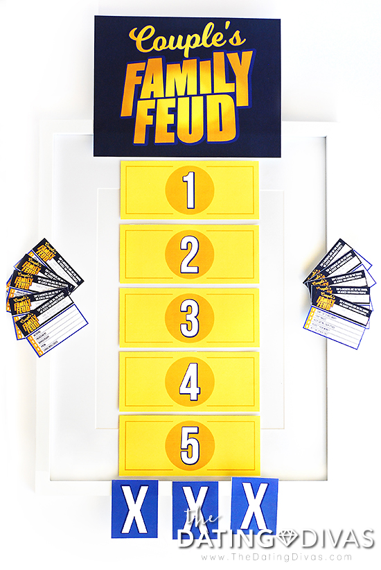 photo regarding Family Feud Printable named Partners Household Feud Video game