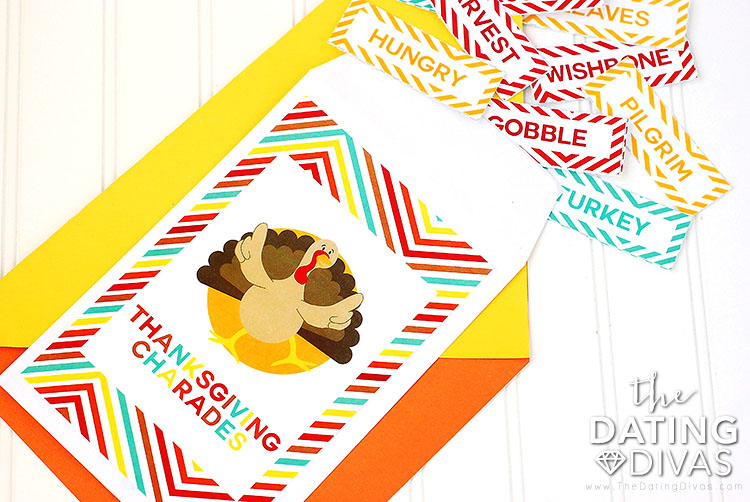 Thanksgiving games for families who like Charades. | The Dating Divas