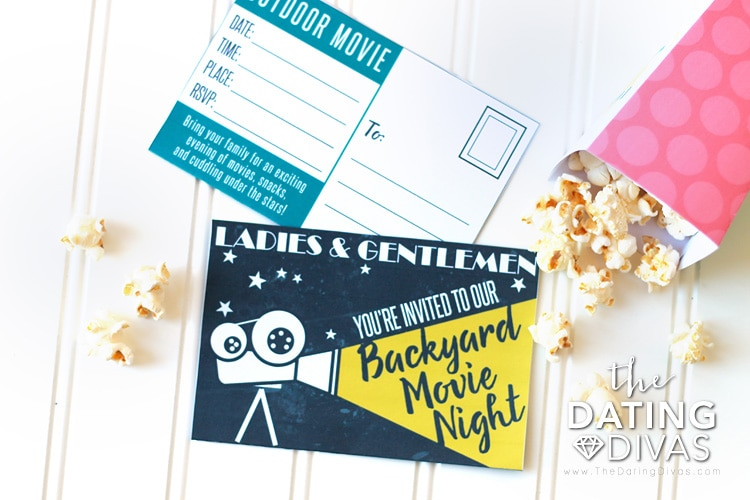 Movie date night ideas for a backyard movie.