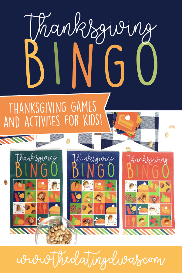 graphic regarding Thanksgiving Bingo Printable named Thanksgiving Bingo Activity Printables The Courting Divas