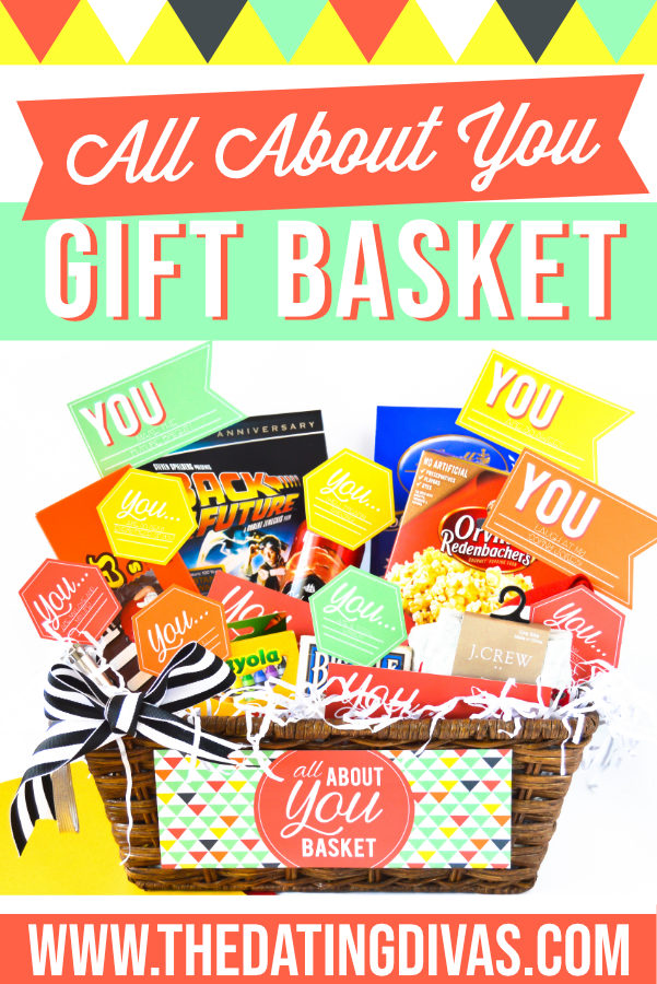 This All About You basket is the PERFECT gift for my hubby! Plus the printables are FREE. Total win! #thedatingdivas #allaboutyougifts #allaboutyoubasket