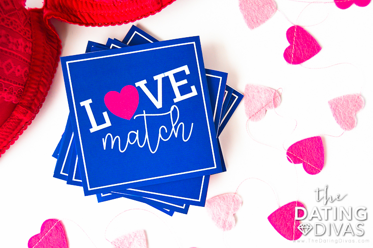 blue Love Match Game Deck
