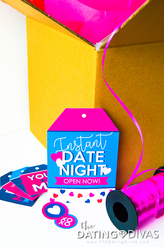 Date Night Basket or Box Large Tag