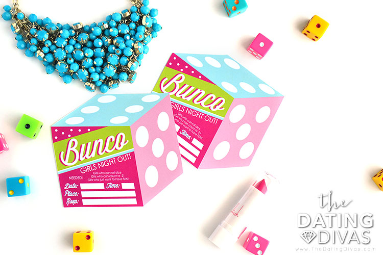Bunco Group Date Night Girls Night Out Invites