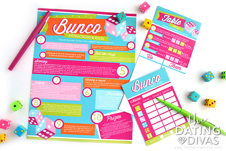 Bunco Group Date Night Instruction Sheet
