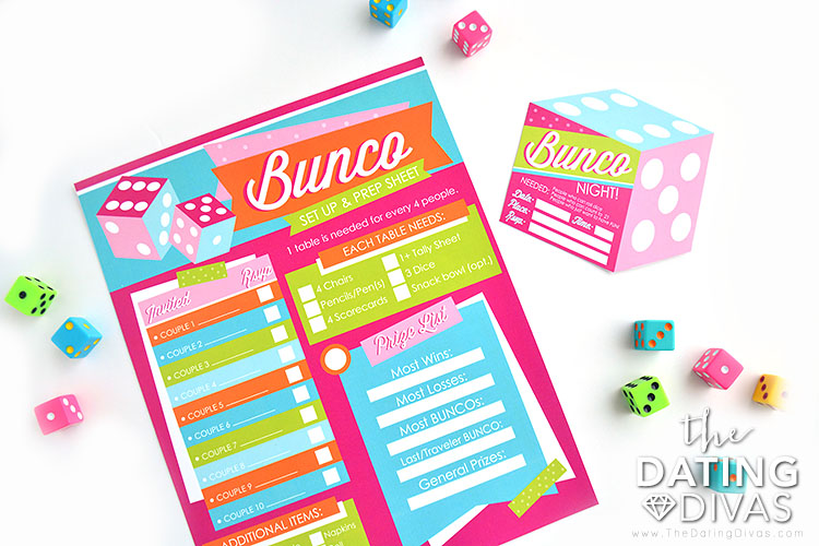 Bunco Group Date Night Prepsheet