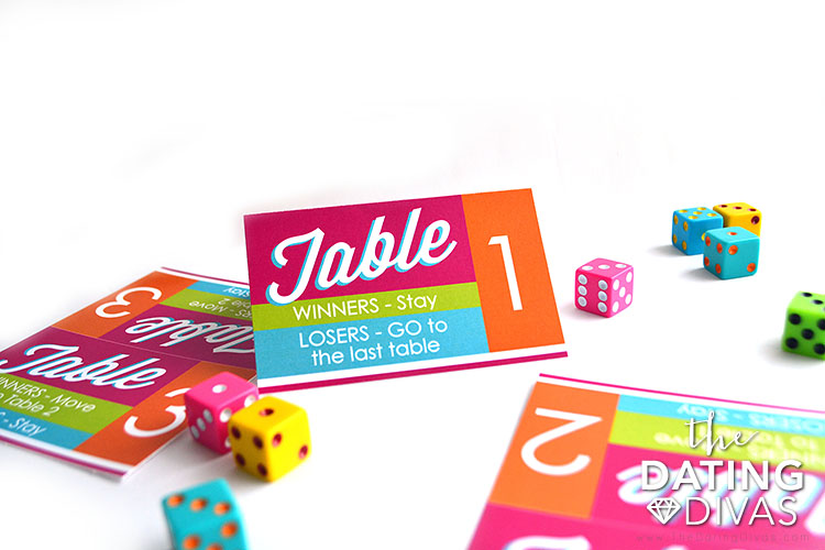 Bunco Group Date Night Table Labels
