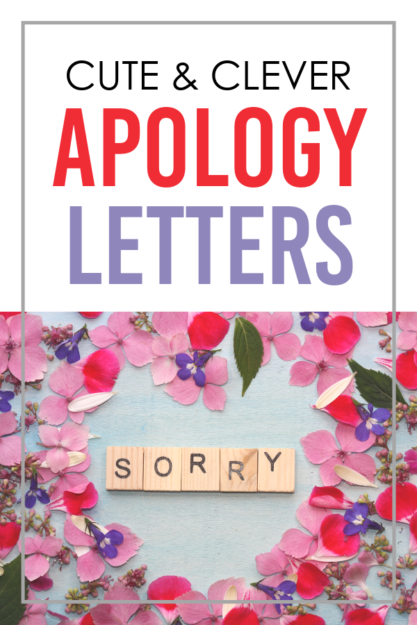 Cute and Clever Apology Letters