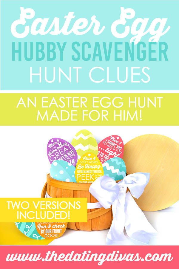 I cannot wait to surprise my hubby with this easter egg scavenger hunt! #easteregghuntideas #easterriddlesforadults #easterhuntideas