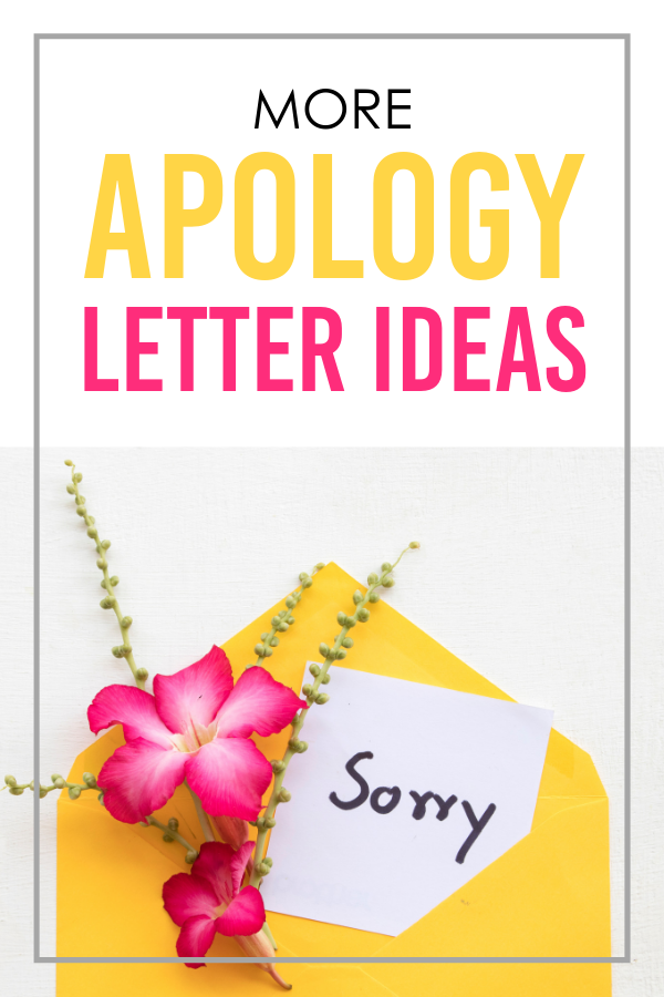 More Apology Letter Ideas
