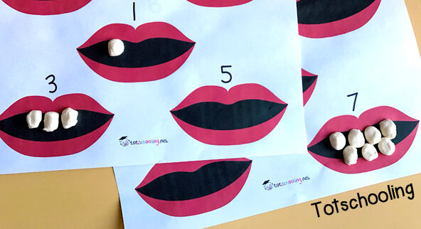 Preschool Activities Counting with Teeth | The Dating Divas