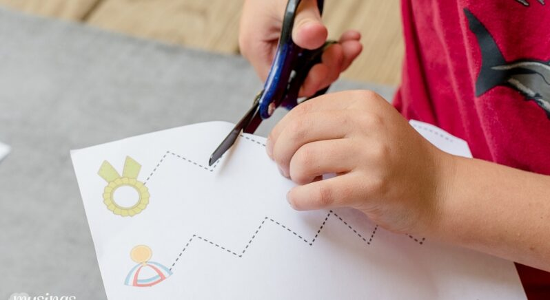 Teaching Kids How to Cut Using Preschool Activity Sheets | The Dating Divas
