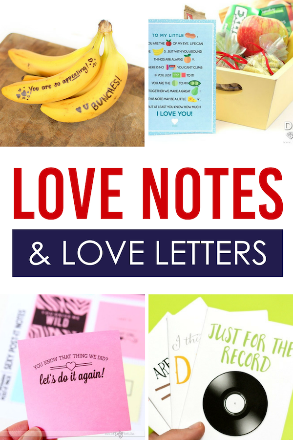 Love Notes and Love Letters