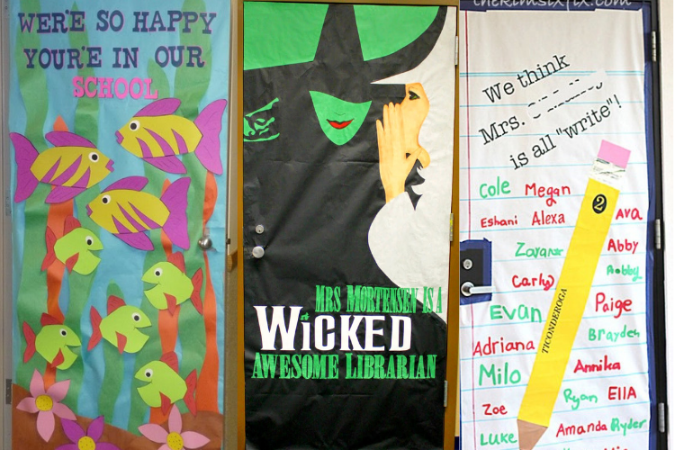 Door decorating ideas for Teacher Appreciation Week.