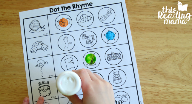 Toddler Worksheet to Teach Kids How to Read Starting with Rhymes | The Dating Divas