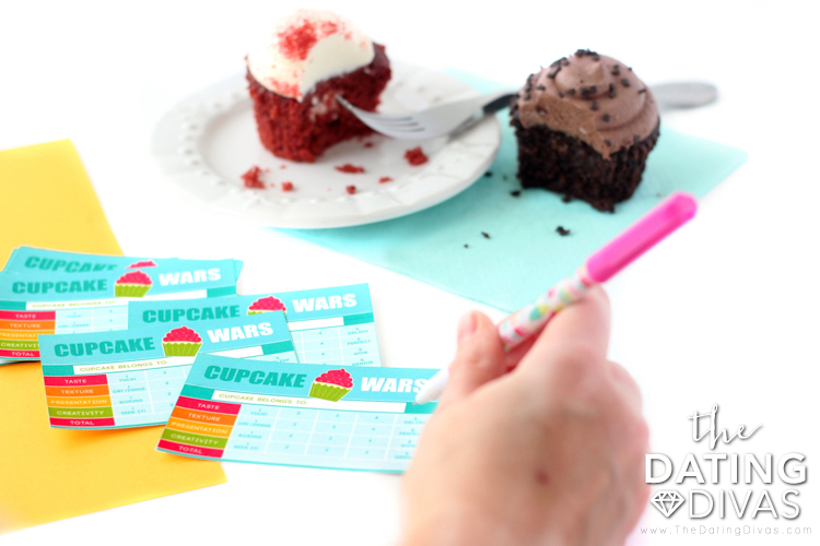 Cupcake Wars Judging Cards
