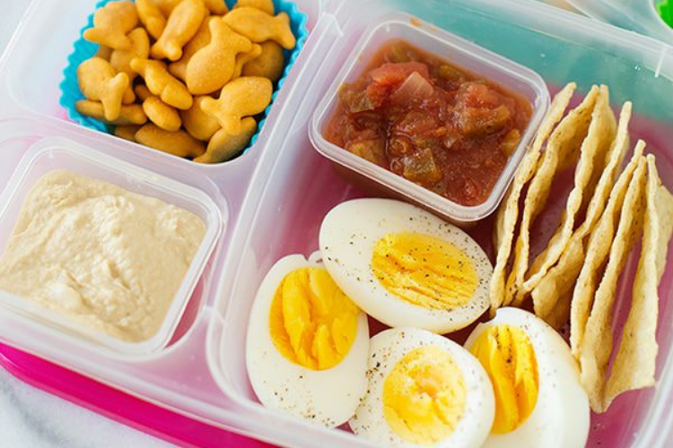 Boiled eggs, salsa, and hummus   The Dating Divas