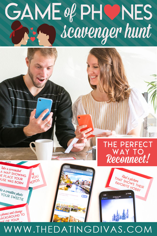 I LOVE this game of phones scavenger hunt idea! Can't wait to try it with my sweetie! #phonegames #phonescavengerhunt