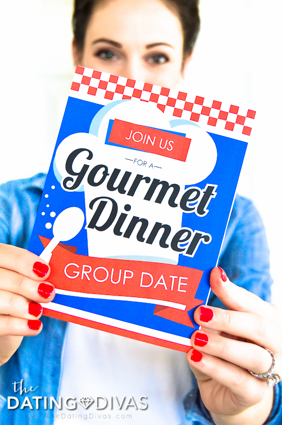 Gourmet Dinner Party Date Invitation