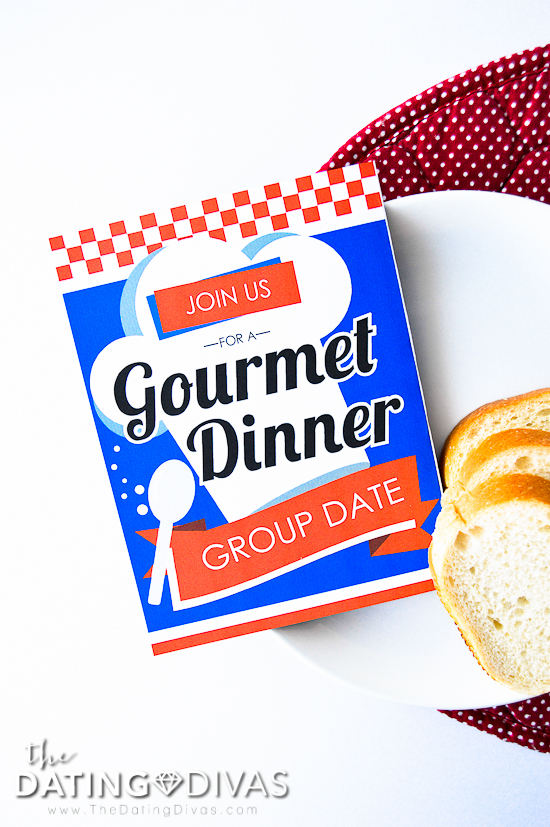 Gourmet Dinner Party Date Invite