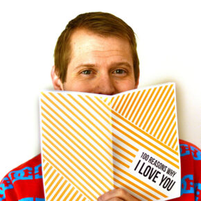 """Make a DIY """"things I love about you"""" book for your spouse."""