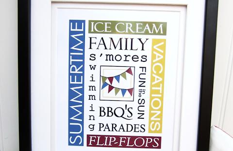 Wall Art Summer Printable