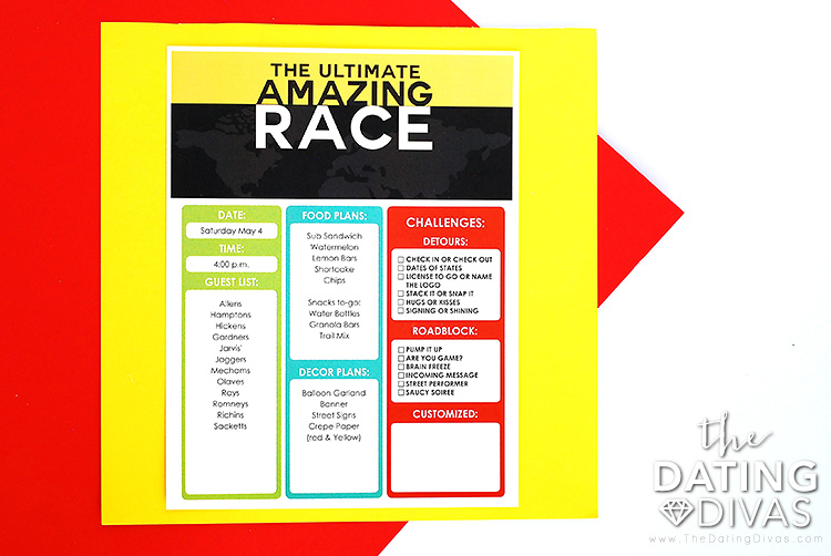 The Amazing Race Game Host Guide