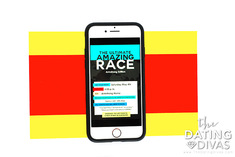 The Amazing Race Game Invitation