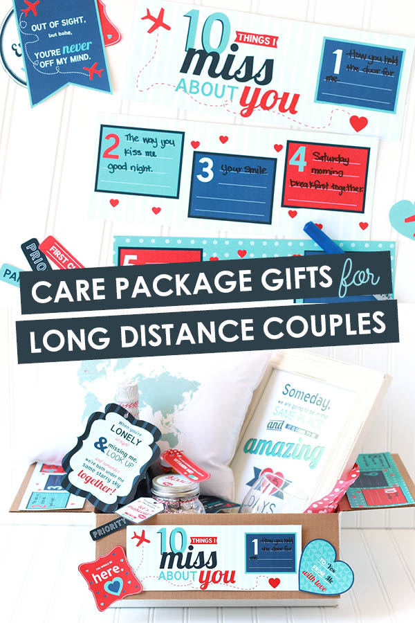 I can't wait to put together some of these gifts for long distance couples! I want to get started right now! #giftsforlongdistancecouples #longdistancegiftideas