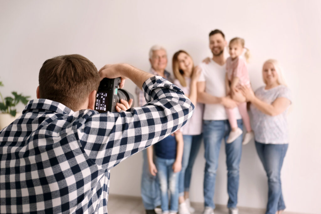 Photographer Taking Family Photos