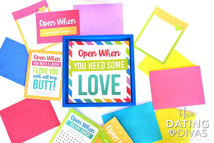 Open When Letters Editable Kit